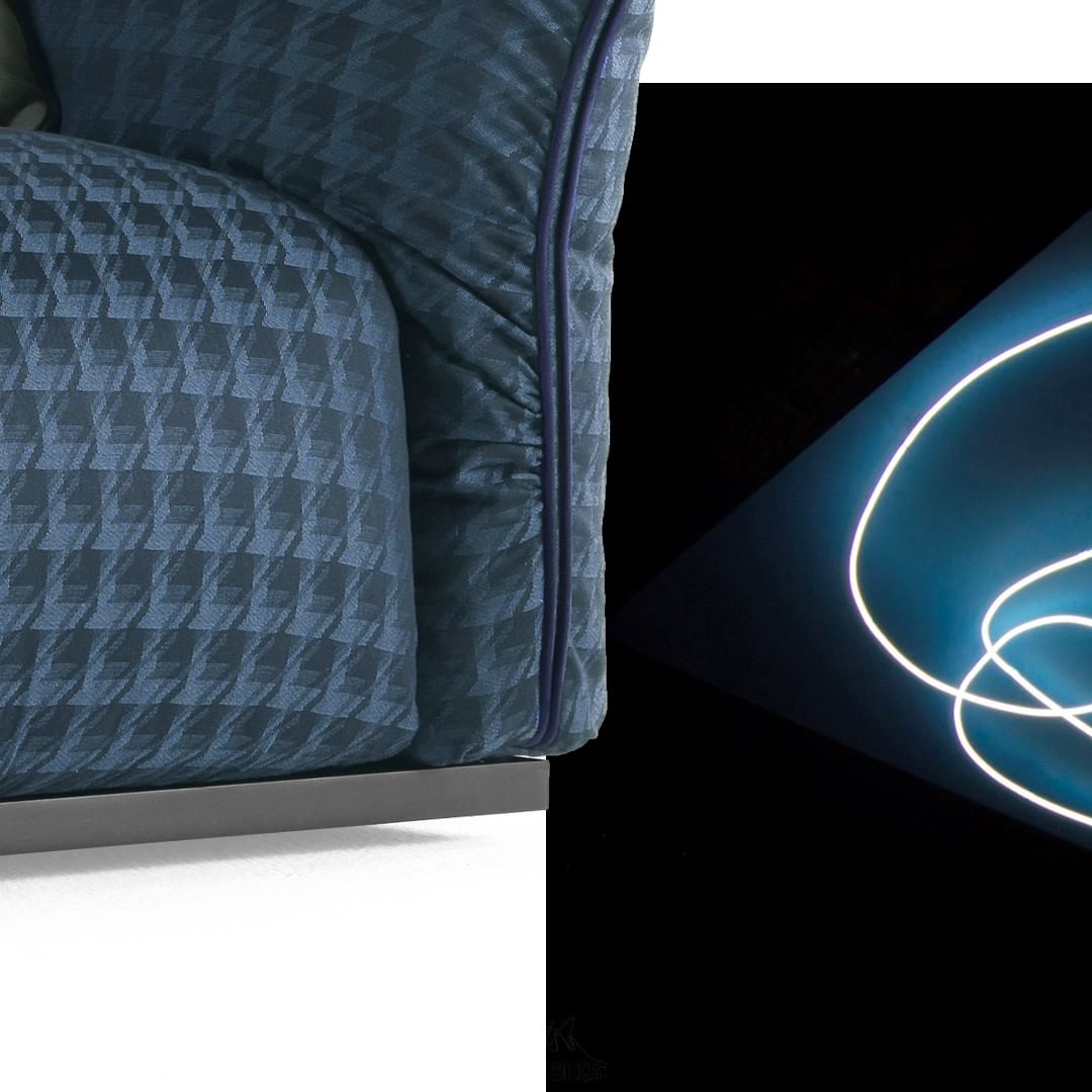 Dark blue: the color of the space, of th...