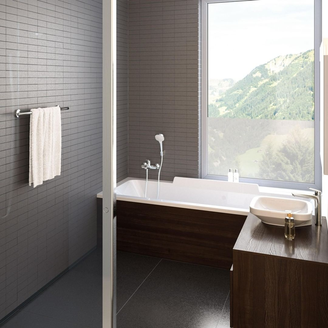 A bathroom with a view!  Which decor ele...