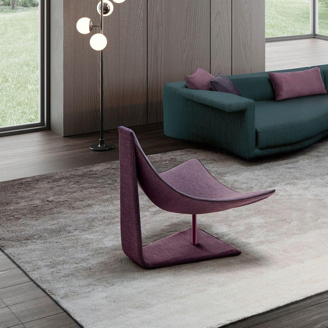 A strikingly eye-catching armchair disti...