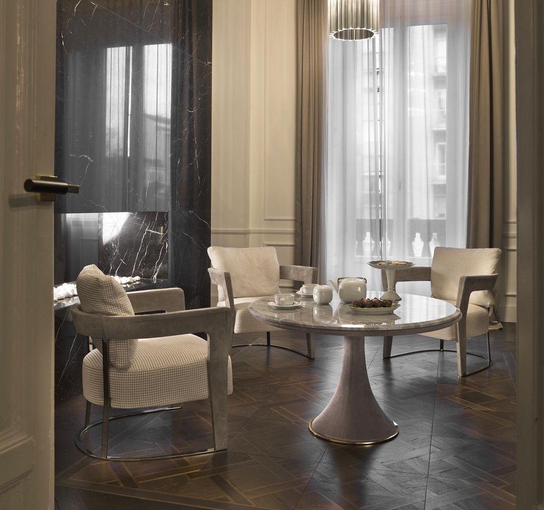 "Agatha armchair and David table ""Tea tim..."