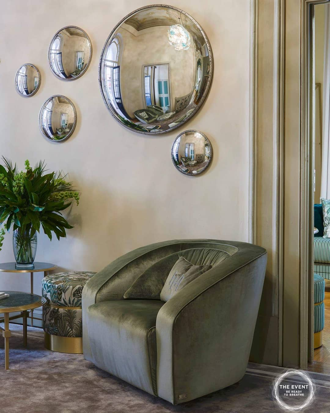 The snug shape of Marais armchair showca...