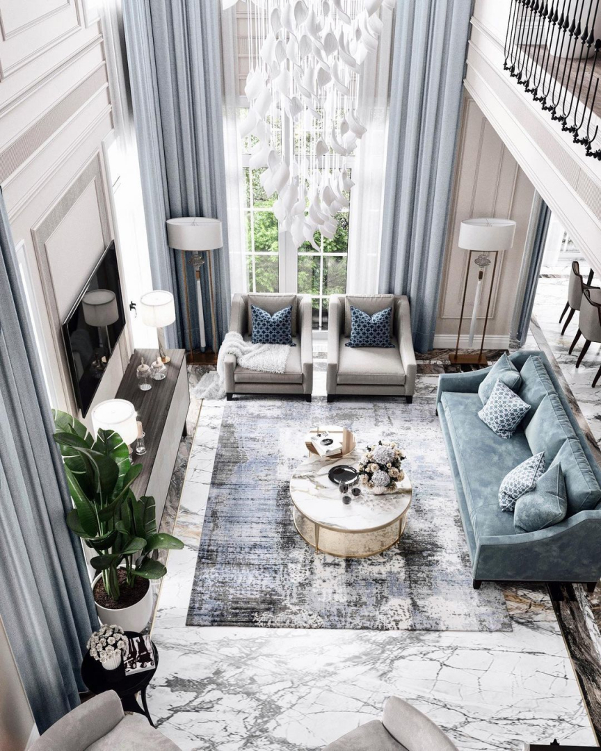 A charming living room from a country ho...