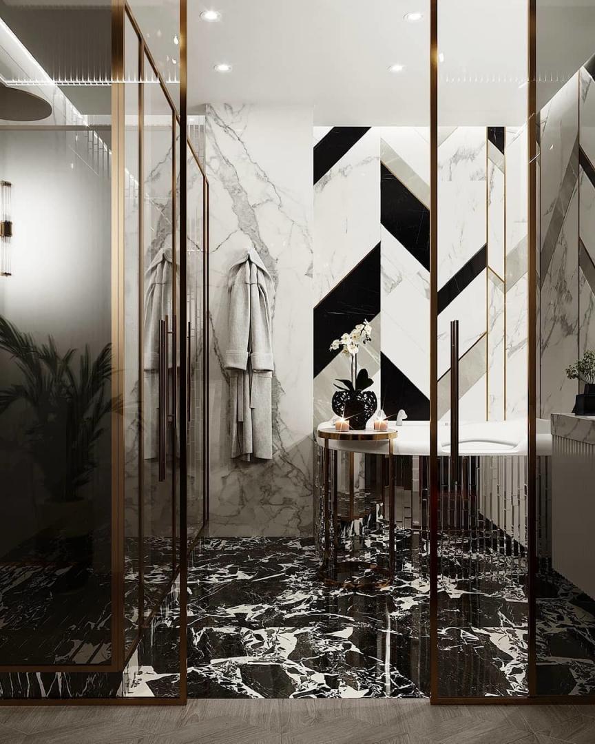 A refined bathroom designed by Mirarti D...