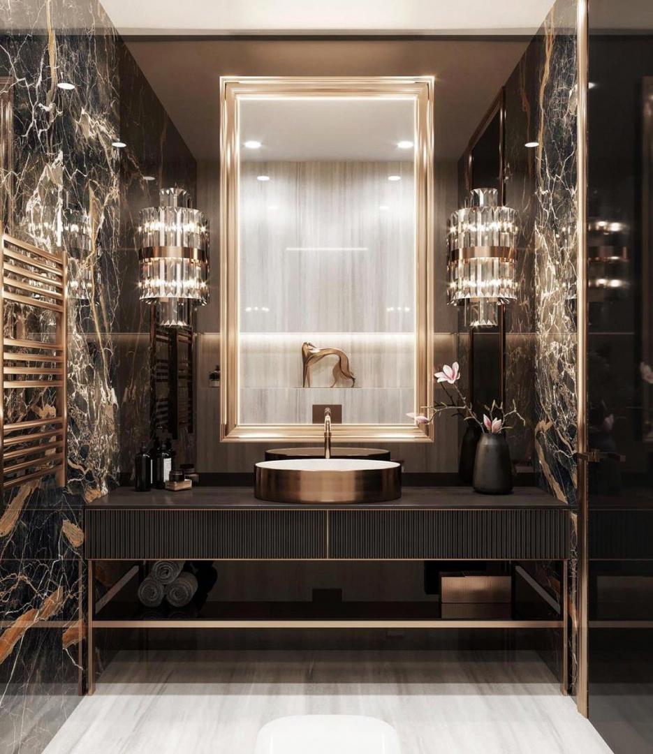 An elegant bathroom designed by Domos De...