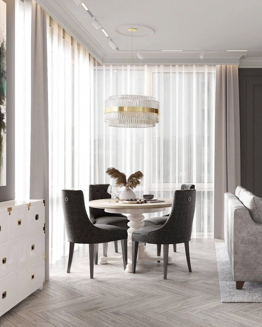 An elegant dining area designed by MBM S...