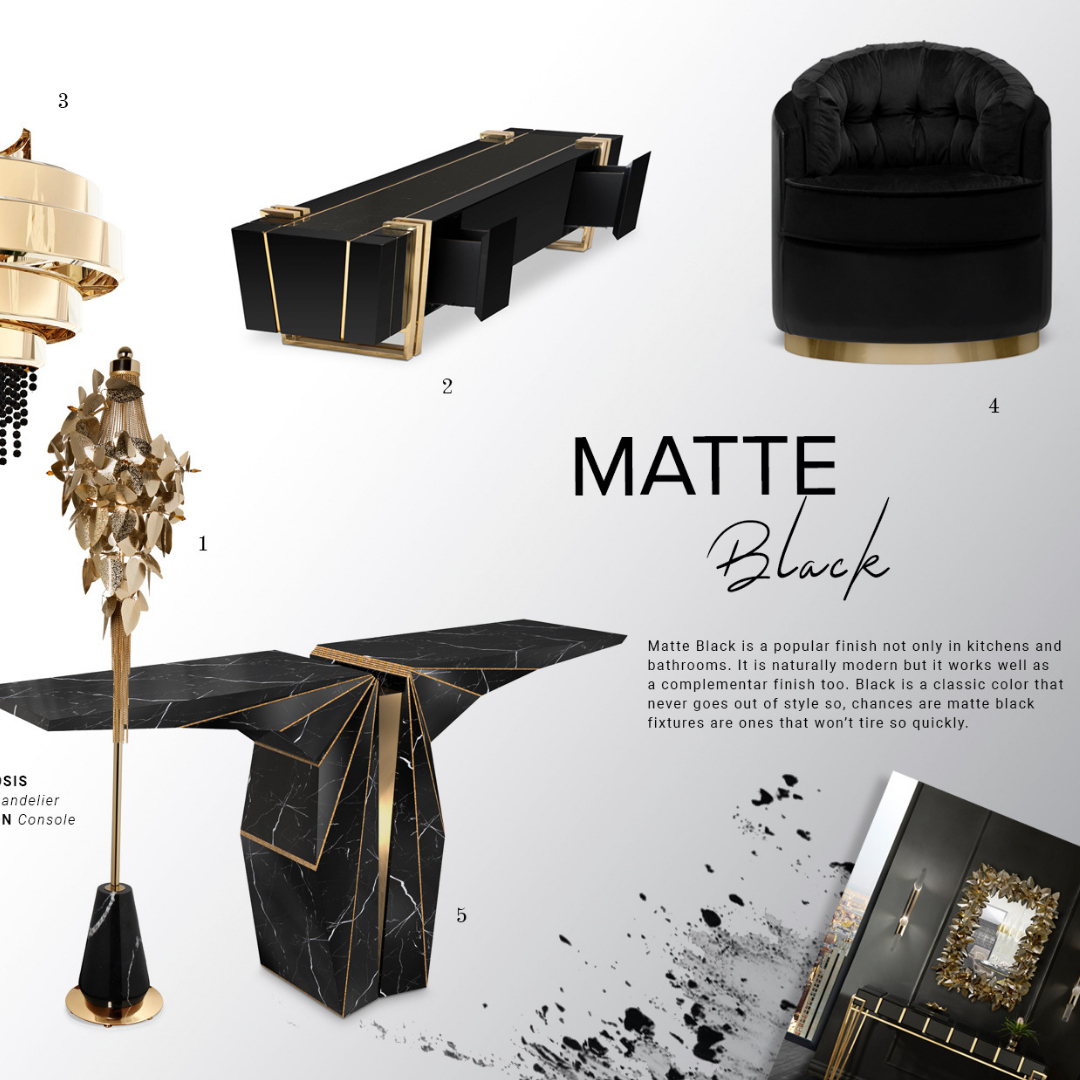 Matte Black is a popular finish not only...