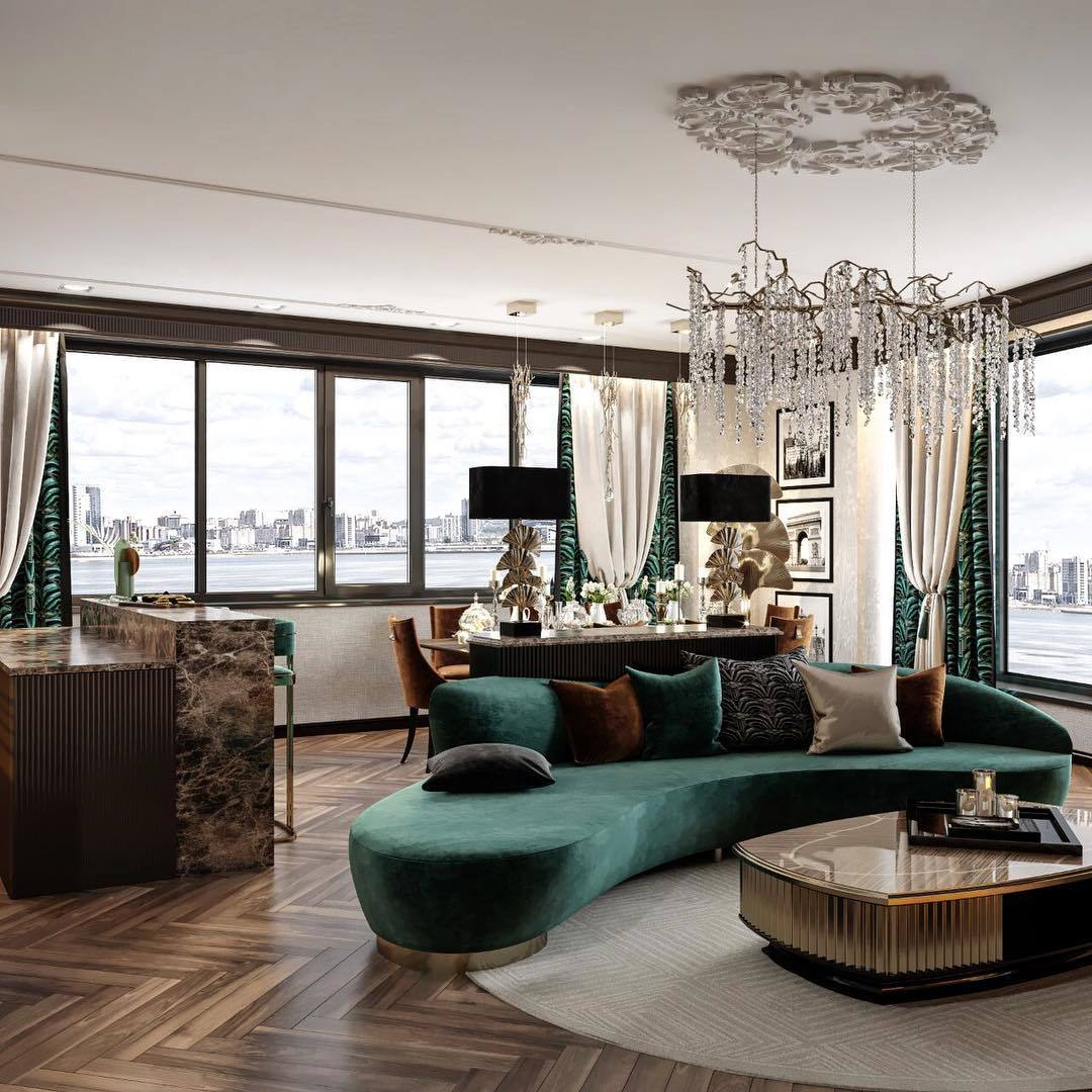 This living room area designed by Leyla ...
