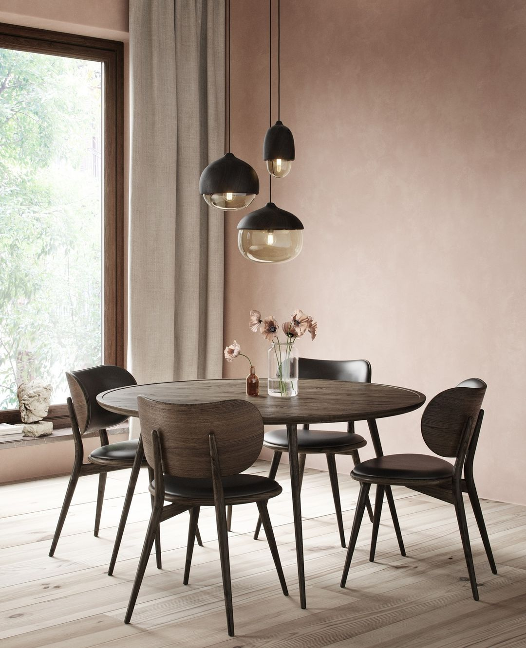 Accent Dining Table & The Dining Chairs ...