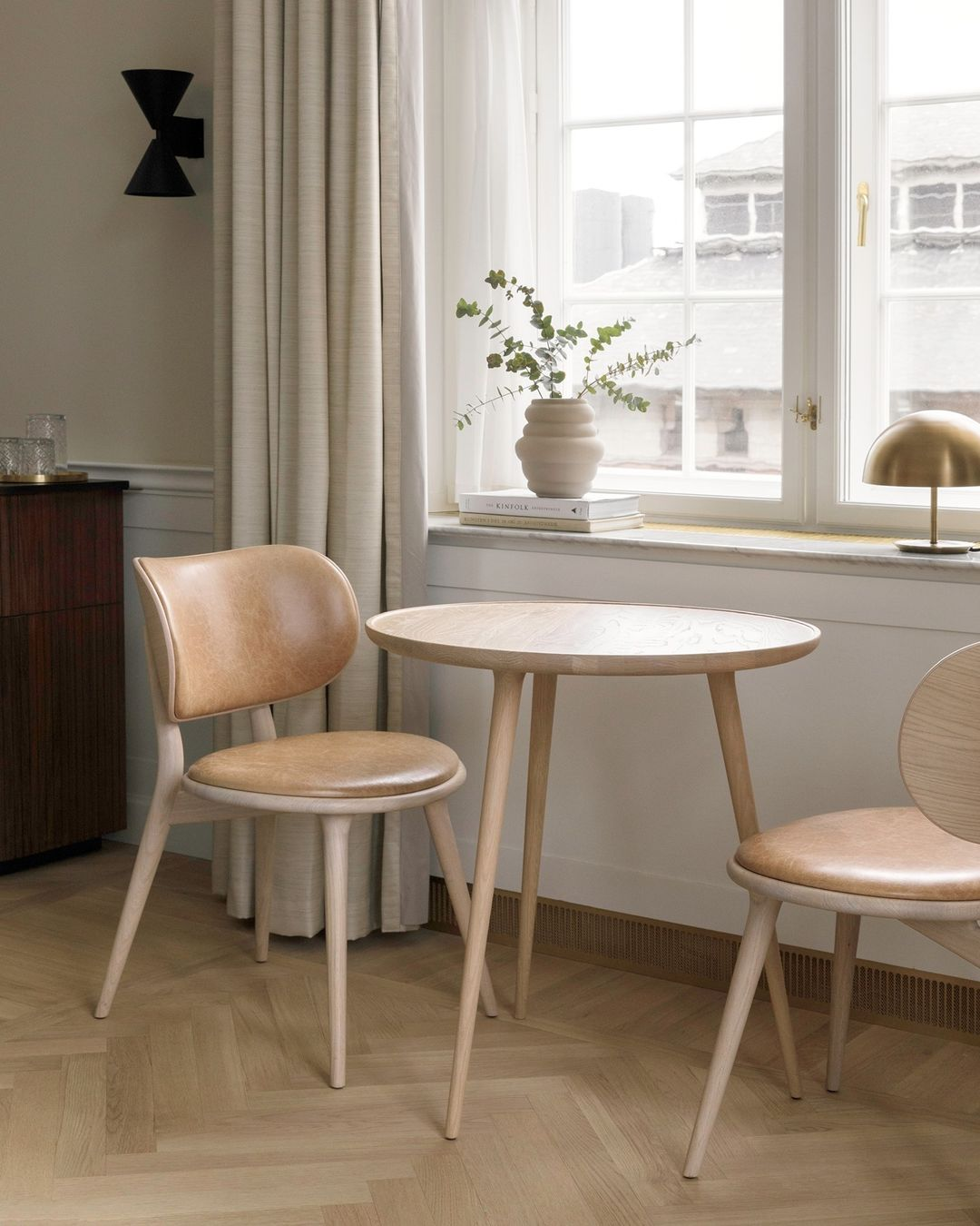 The Dining Chairs & Accent Café Table in...