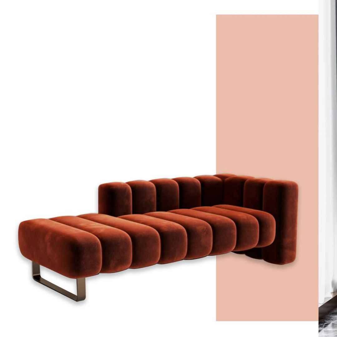 A chaise longue with essential lines sta...