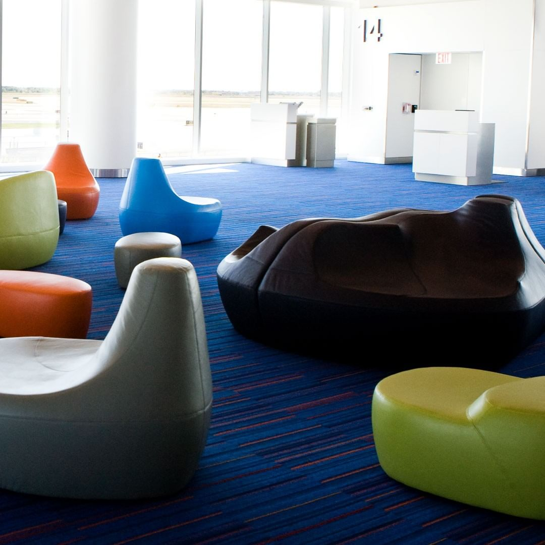 A stylish and comfortable waiting area i...