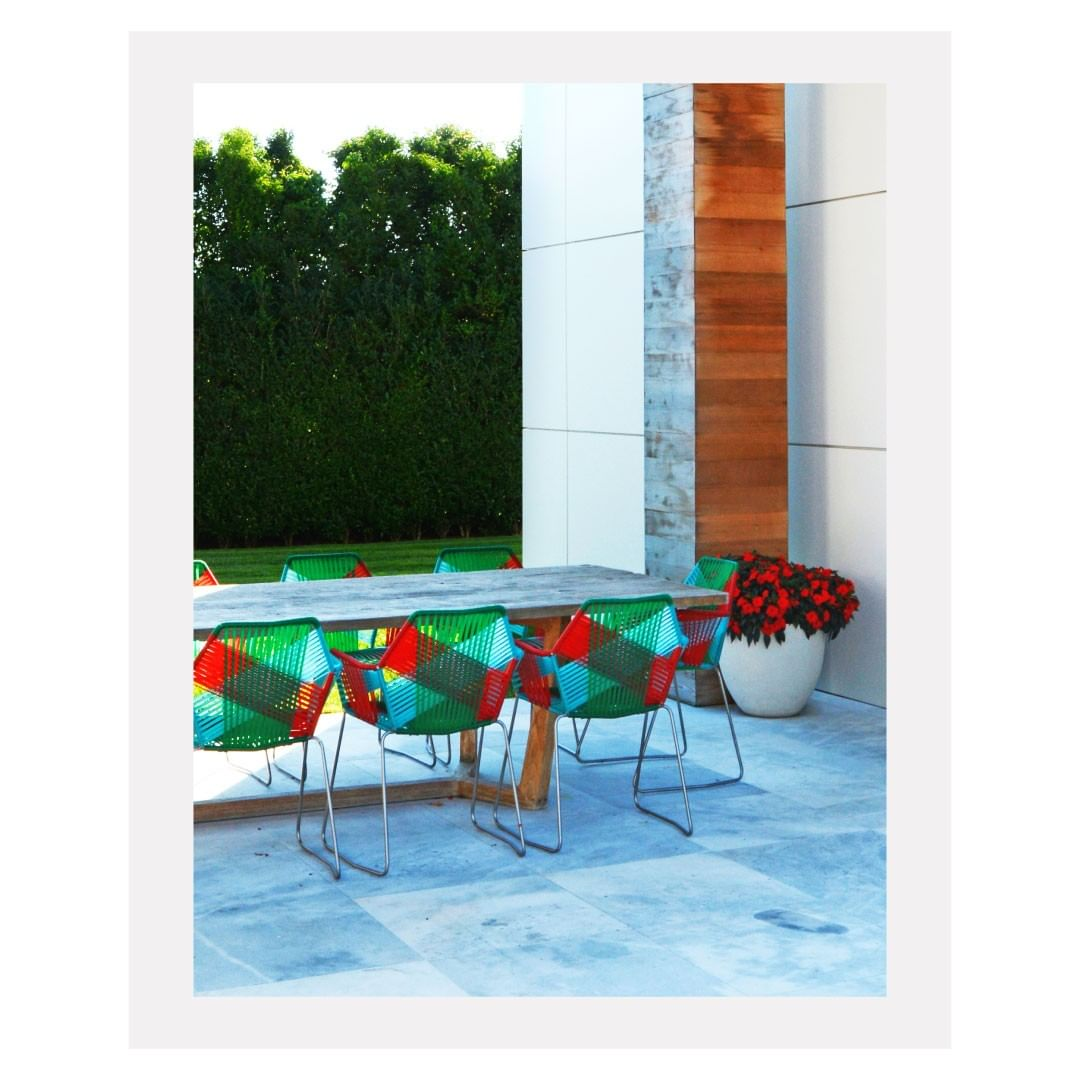 Our suggestion for a bright summer patio...