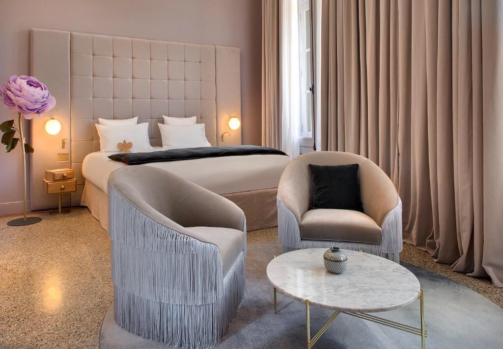 The Fringes Armchairs in a hotel created...