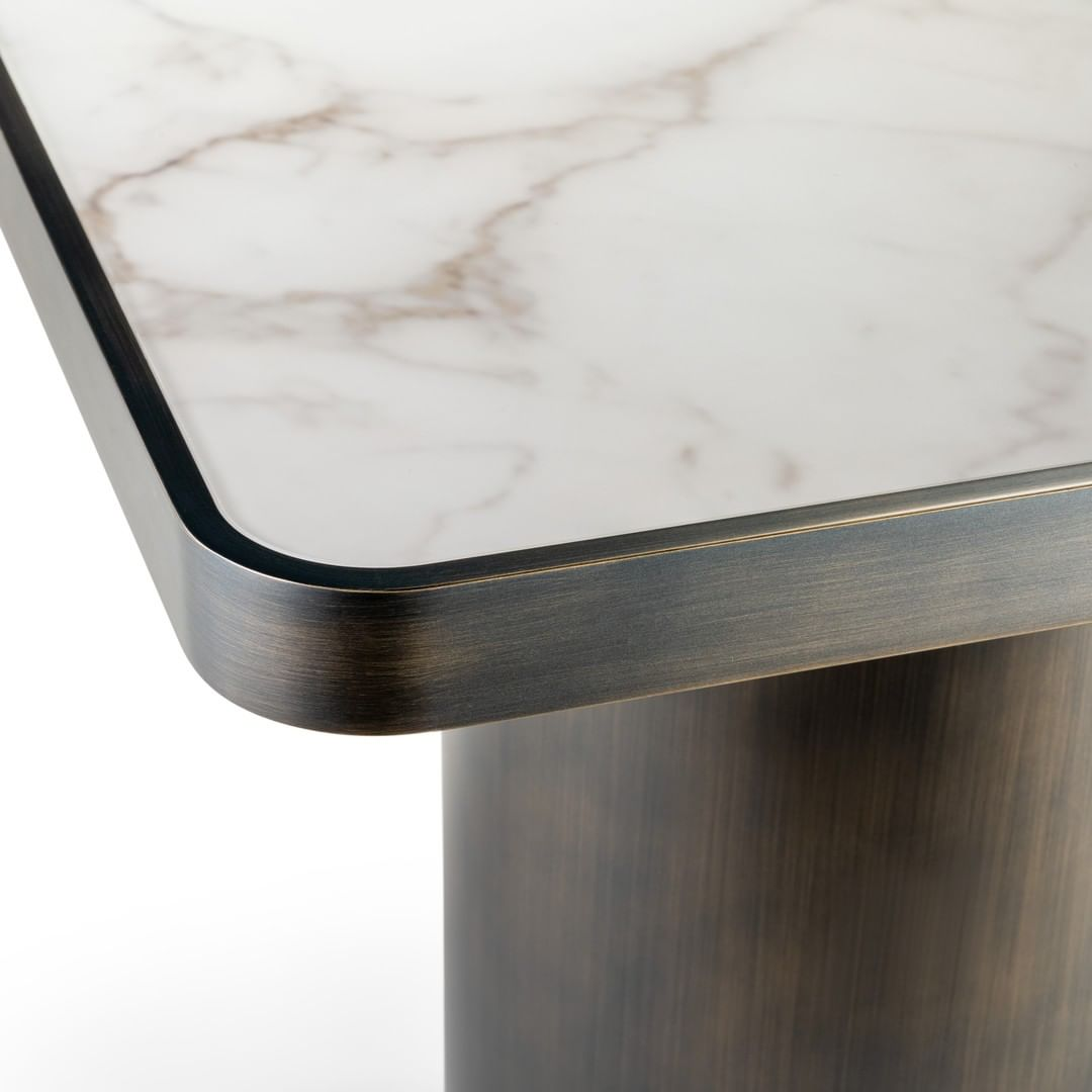 A detail of the 40mm thick wooden top of...