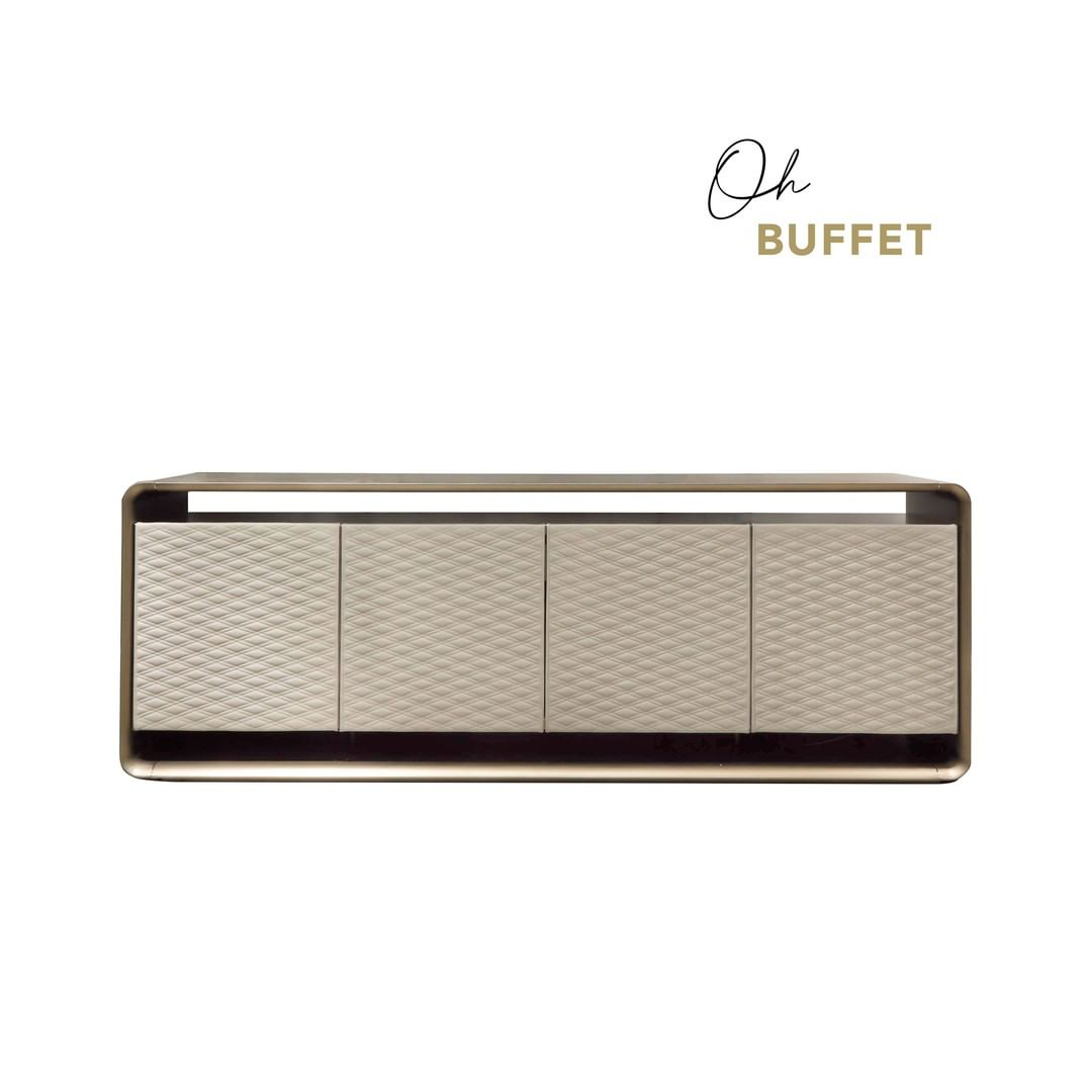 OH Buffet: the four suspended doors with...