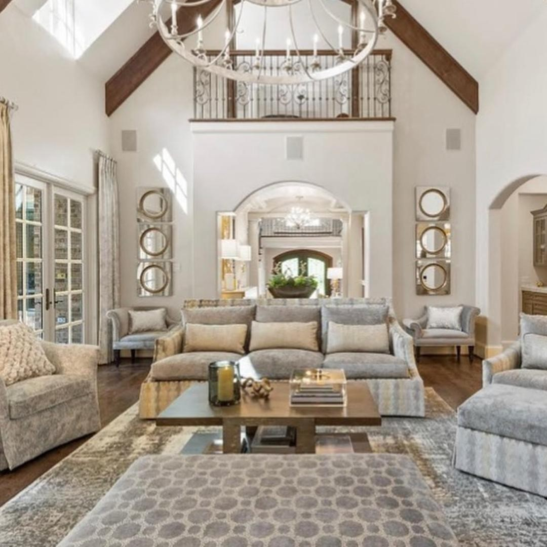 Bathed in natural light, this living ro...