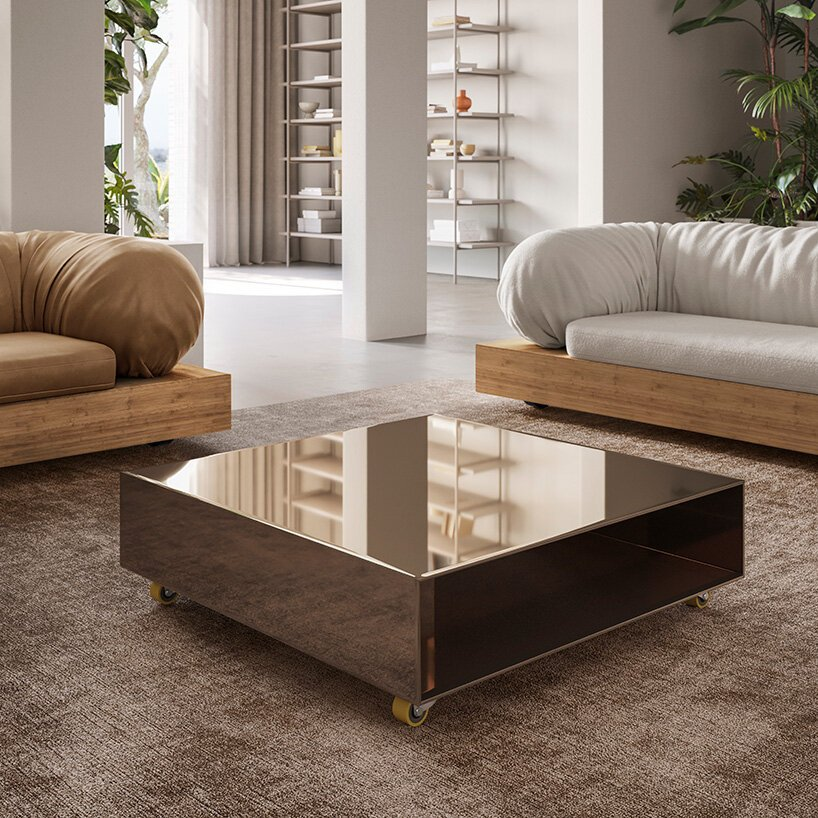 sabine marcelis juxtaposes soft & hard materials in collection for natuzzi