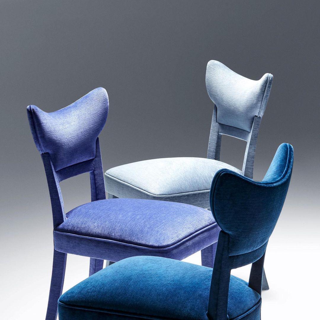 Françoise Chair   New Chenille fabrics  ...