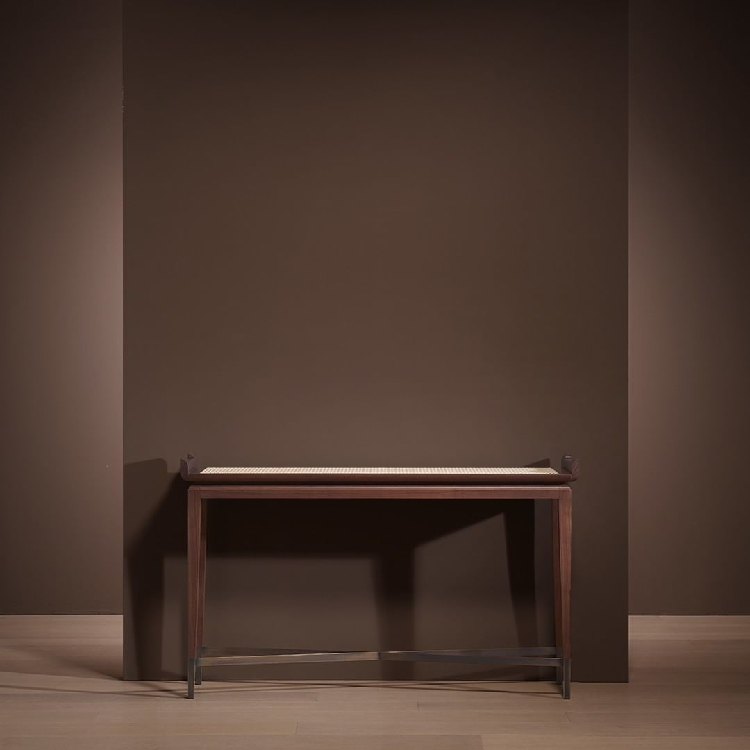 MAO console is made in wood with a top i...