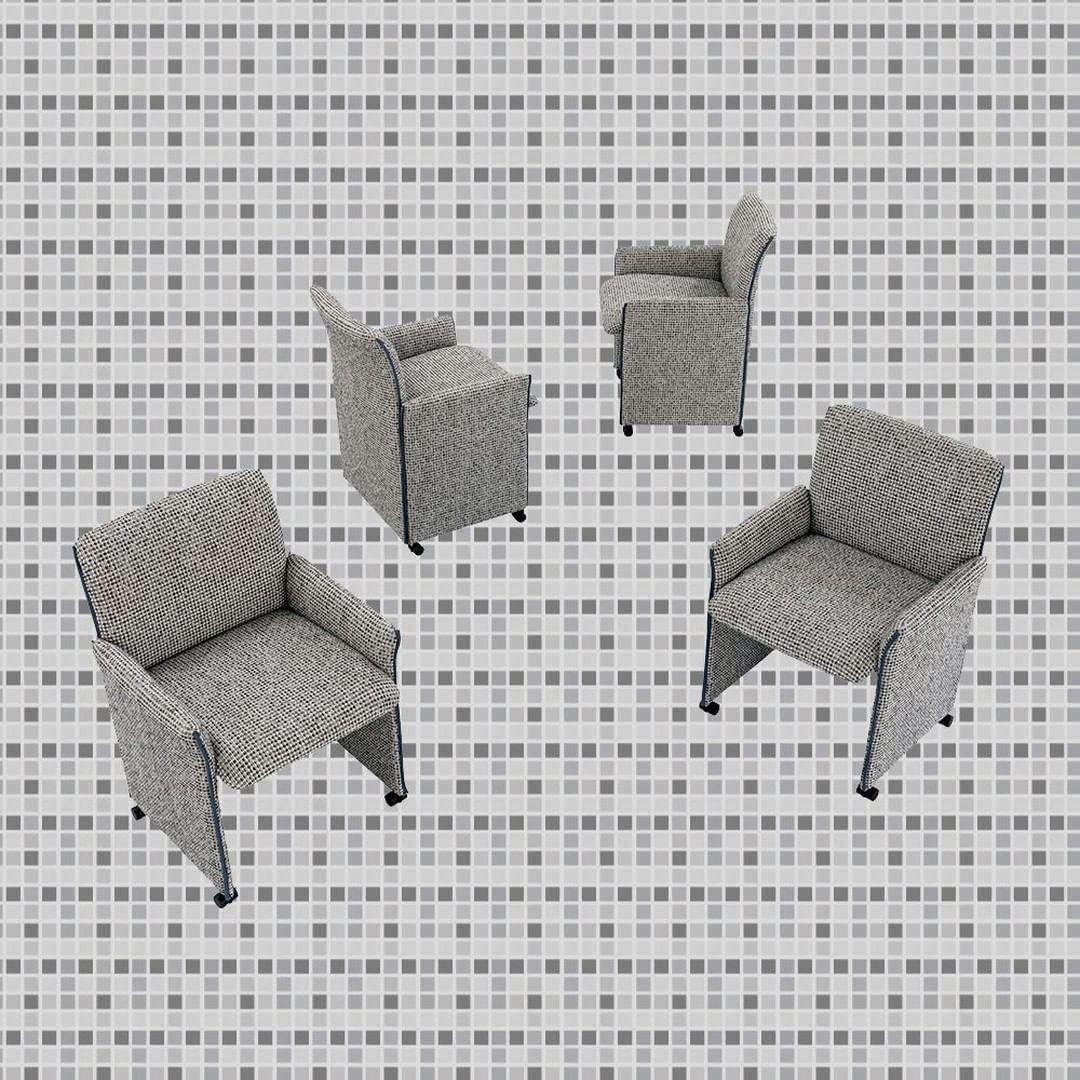 Oris: this small armchair has a metal fr...