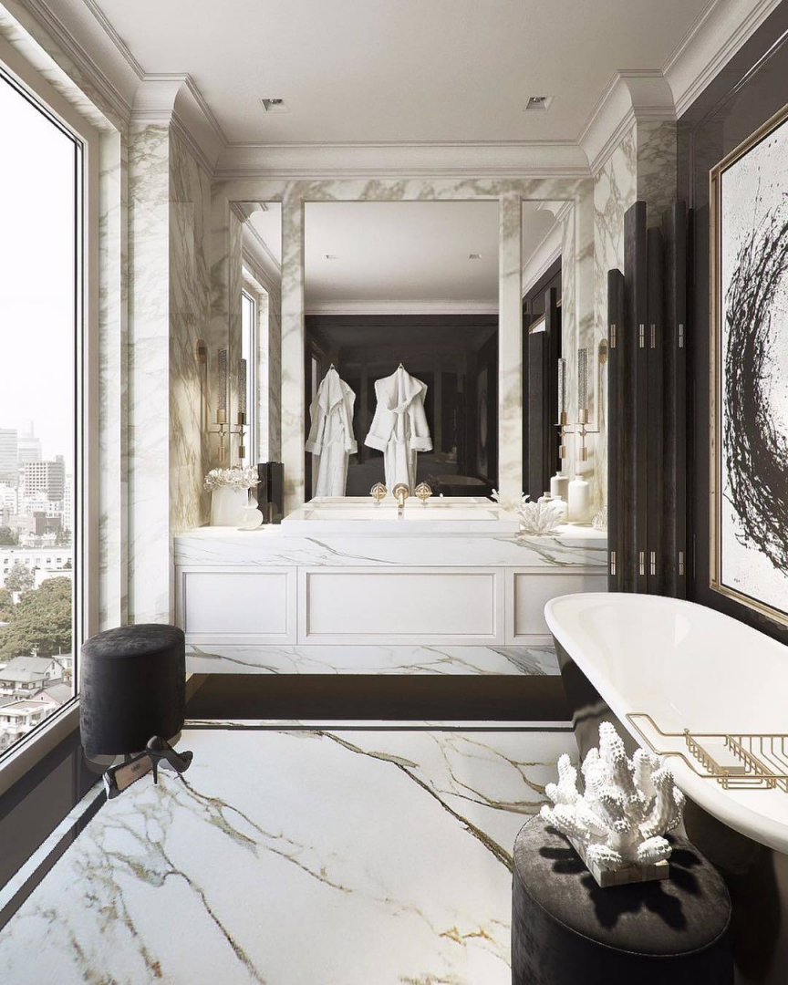 Luxurious bathrooms have another charm, ...