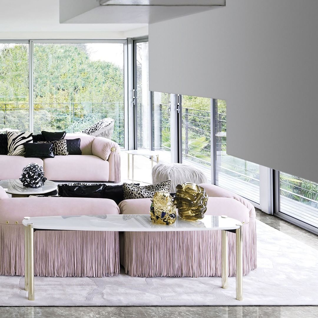 A harmony in pink for a living room that...