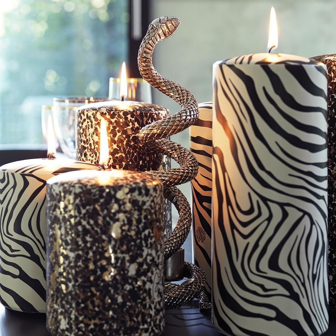 Animal patterns and snake-shaped element...